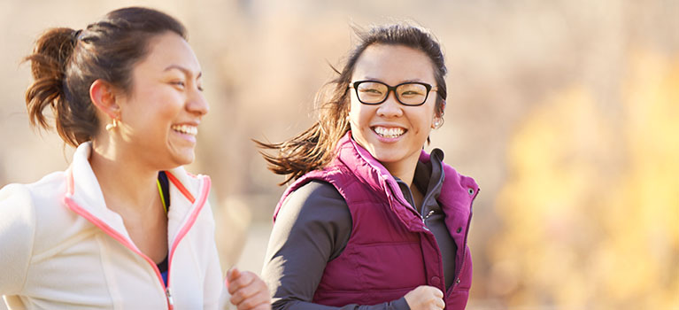 Women jogging outside